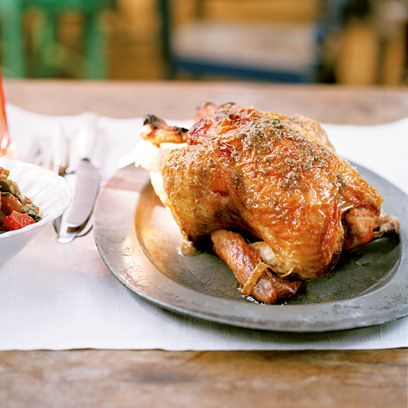 Skye Gyngell's roast chicken with anchovy butter