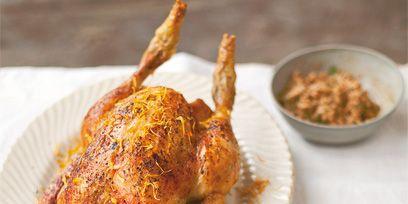 Food, Ingredient, Cuisine, Dish, Turkey meat, Dishware, Tableware, Cooking, Chicken meat, Roasting,