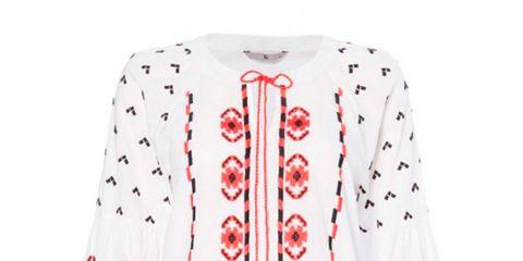 Clothing, White, Outerwear, Sleeve, Cardigan, Sweater, Pink, Design, Pattern, Collar,