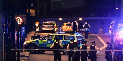 Police, Vehicle, Car, Night, Police car, Emergency, Pedestrian, Police officer, Traffic, Street,