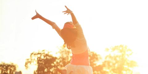 People in nature, Backlighting, Sunlight, Light, Jumping, Happy, Morning, Sky, Photography, Flip (acrobatic),