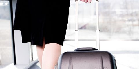 Suitcase, Bag, Hand luggage, Baggage, Shoulder, Luggage and bags, Product, Joint, Travel, Leg,