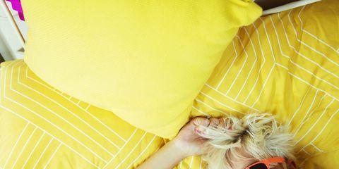 Yellow, Orange, Textile, Peach, Happy, Smile, Linens,