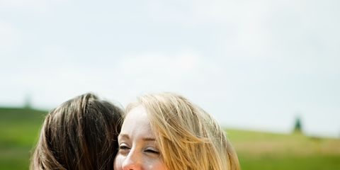 Hair, Hairstyle, Shoulder, People in nature, Summer, Field, Plain, Long hair, Beauty, Grassland,
