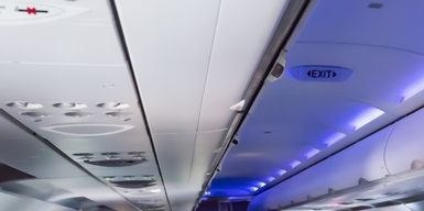 Airline, Aircraft cabin, Vehicle, Air travel, Mode of transport, Airliner, Head restraint, Airplane, Airbus,