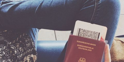 Identity document, Passport, Nail, Material property, Thumb, Active pants, Label,