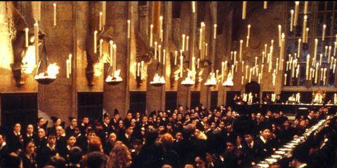 Lighting, Event, Crowd, Candle, Dinner, Interior design, Metal,