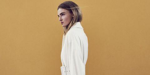 White, Clothing, Shoulder, Fashion, Dress, Outerwear, Neck, Sleeve, Photo shoot, Photography,