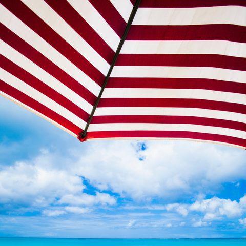 Sky, Blue, Summer, Sea, Vacation, Flag, Beach, Azure, Line, Caribbean,