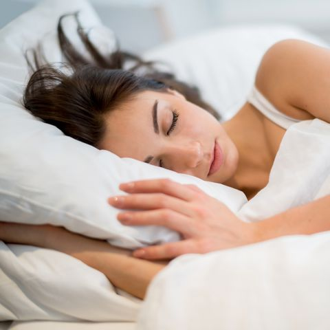 Skin, Sleep, Beauty, Nap, Nose, Forehead, Comfort, Hand, Pillow, Bed,