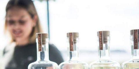 Glass bottle, Drink, Distilled beverage, Liqueur, Alcoholic beverage, Alcohol, Bottle, Vodka,