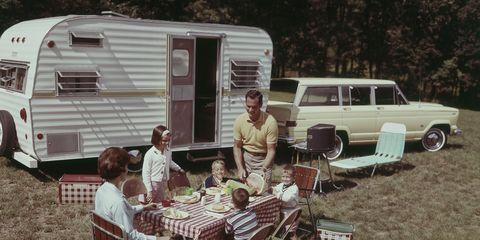 Motor vehicle, Vehicle, Car, Classic, RV, Caravan, Hardtop, Family car, Classic car,