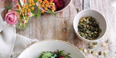 Dish, Food, Cuisine, Ingredient, Salad, Superfood, Pomegranate, Spring greens, Vegetable, Leaf vegetable,