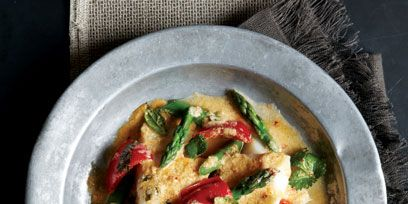 Thai Red Curry With Poached Cod And Asparagus Recipe