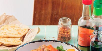 Food, Ingredient, Dish, Bottle, Cuisine, Meat, Stew, Tableware, Plate, Recipe,