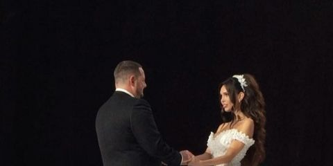 Gown, Wedding dress, Dress, Fashion, Event, Bridal clothing, Bride, Beauty, Formal wear, Performance,