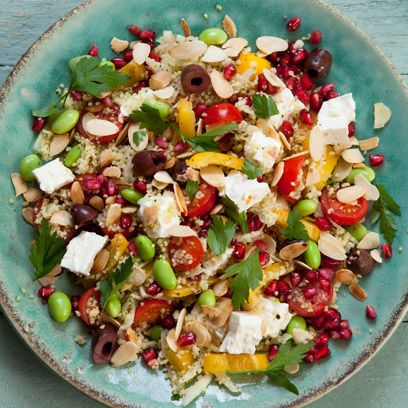 feta and pomegranate couse cous recipe