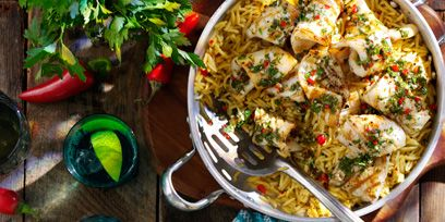 Food, Cuisine, Dish, Rice, Ingredient, Recipe, Tableware, Meal, Spiced rice, Plate,