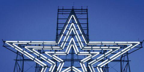 Landmark, Sky, Symmetry, Star, Architecture, Design, Pattern, Tree, Plant, Electric blue,
