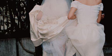 White, Dress, Clothing, Pink, Fashion, Footwear, Wedding dress, Gown, Bridal clothing, Leg,