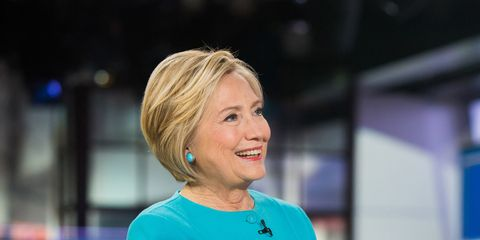 Blond, Television presenter, Newsreader, Electric blue, Employment, Smile,