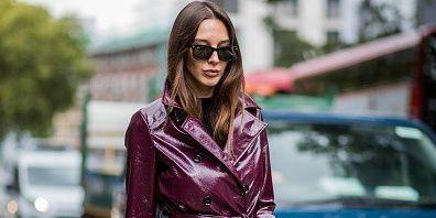 Street fashion, Clothing, Fashion, Eyewear, Leather, Automotive design, Outerwear, Pink, Sunglasses, Footwear,
