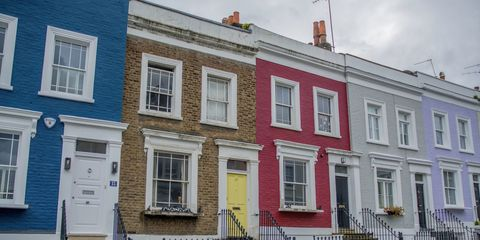 Property, House, Building, Neighbourhood, Home, Town, Architecture, Yellow, Facade, Window,