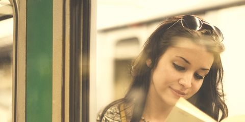 Hair, Reflection, Beauty, Hairstyle, Yellow, Mirror, Shoulder, Smile, Lip, Cool,