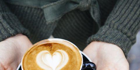 Cup, Coffee cup, Coffee, Caffè macchiato, Flat white, Caffeine, Cup, Ristretto, Hand, Espresso,