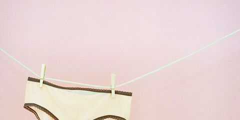 Undergarment, Lingerie, Briefs, Clothing, Underpants, Swimsuit bottom, Bikini, Undergarment, Beige, Swimwear,