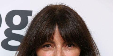 Hair, Face, Hairstyle, Eyebrow, Chin, Bangs, Forehead, Brown hair, Nose, Layered hair,