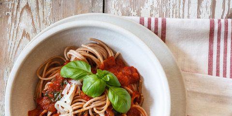 Food, Cuisine, Dish, Ingredient, Capellini, Spaghetti, Italian food, Pasta pomodoro, Bucatini, Spaghetti alla puttanesca,