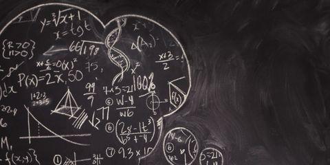 Blackboard, Chalk, Thinking, Illustration,