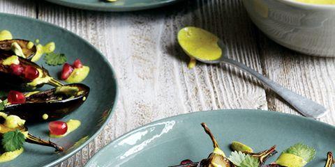 Food, Dishware, Serveware, Tableware, Plate, Ingredient, Culinary art, Produce, Garnish, Kitchen utensil,