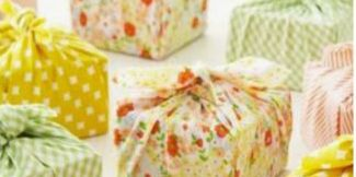 Orange, Pattern, Textile, Party favor, Gift wrapping, Present,