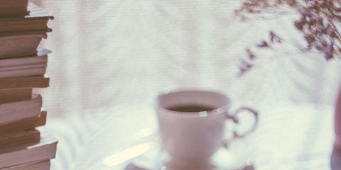 Cup, Coffee cup, Cup, Drinkware, Table, Tableware, Morning, Serveware, Teacup, Textile,