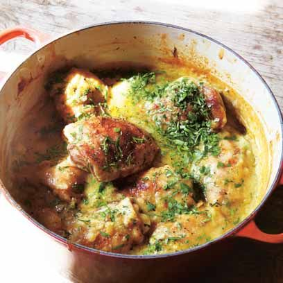 Hugh Fearnley Whittingstall's Chicken and lentils
