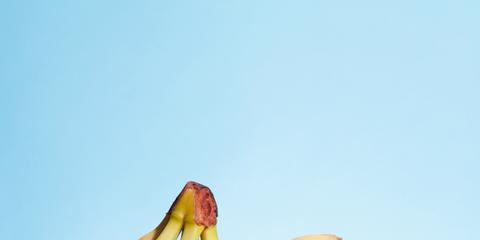 Banana family, Banana, Saba banana, Plant, Cooking plantain, Fruit, Yellow, Peel, Food, Still life photography,