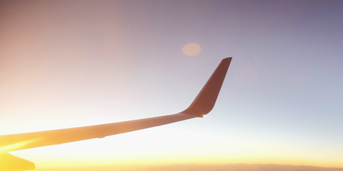 Sky, Air travel, Atmosphere, Wing, Airline, Airplane, Cloud, Flight, Horizon, Aviation,