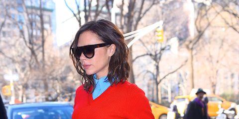 Clothing, Street fashion, Cobalt blue, Red, Electric blue, Fashion, Blue, Orange, Eyewear, Neck,