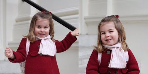 Clothing, Child, Red, Uniform, Child model, Toddler, Outerwear, Smile, Dress, Costume,