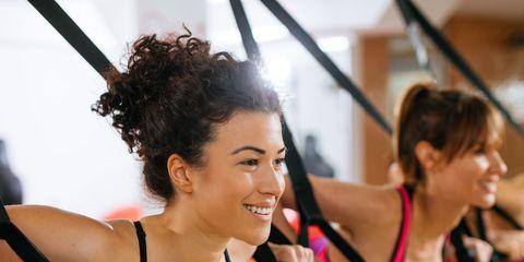 Undergarment, Physical fitness, Sports bra, Brassiere, Arm, Room, Undergarment, Aerobics, Exercise, Sportswear,