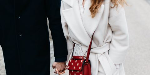 White, Clothing, Street fashion, Red, Fashion, Footwear, Lip, Outerwear, Coat, Joint,