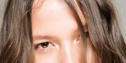 Hair, Face, Lip, Eyebrow, Hairstyle, Blond, Chin, Skin, Beauty, Cheek,