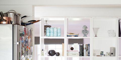 Shelf, Shelving, Furniture, Room, Bookcase, Interior design, Building, Wall, Home, Living room,