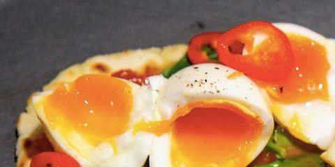 Dish, Food, Fried egg, Cuisine, Ingredient, Breakfast, Meal, Poached egg, Egg, Brunch,
