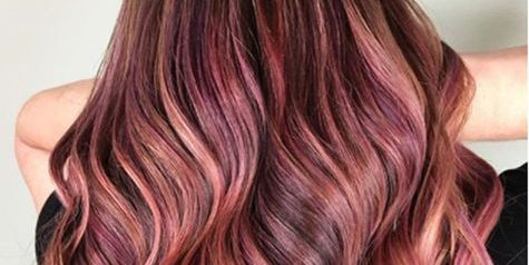 Hair, Hair coloring, Hairstyle, Blond, Brown hair, Long hair, Brown, Layered hair, Red, Pink,