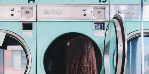 Washing machine, Major appliance, Clothes dryer, Laundry, Home appliance, Washing, Laundry room, Pink, Cool, Room,