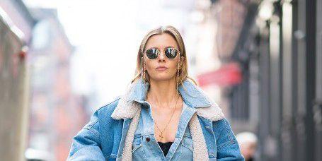 Denim, Clothing, Jeans, Street fashion, Fashion, Outerwear, Coat, Textile, Trench coat, Shoulder,