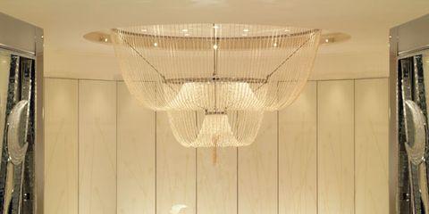 Interior design, Ceiling, Glass, Ceiling fixture, Light fixture, Fixture, Interior design, Tile, Transparent material, Design,